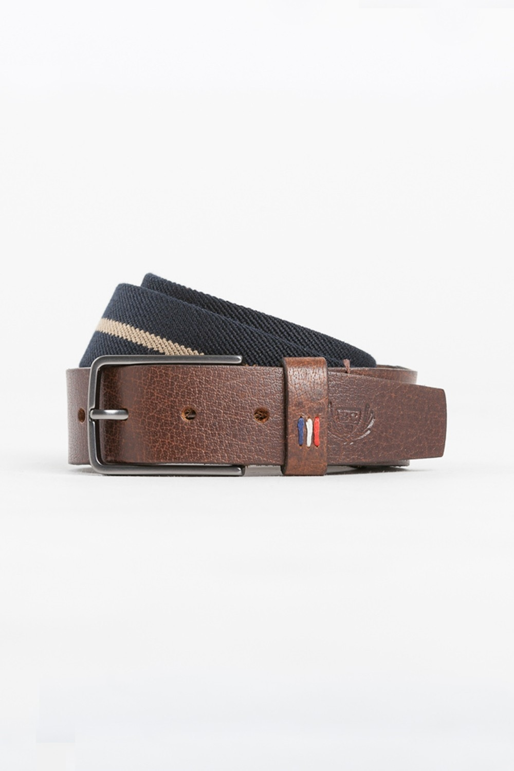 ceinture CORDOU marine benson and cherry