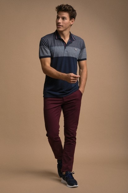 look homme polo coloblock