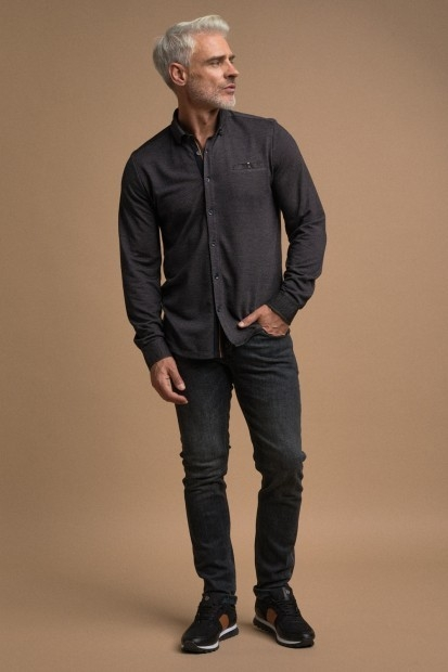 look homme jeans chemise hiver